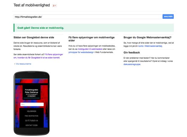 firmafotografen Google mobiltest