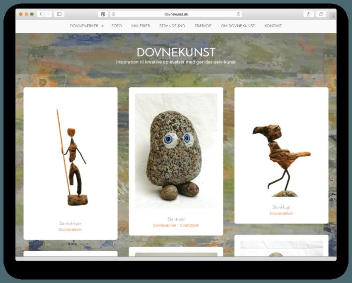 Dialogdesigneren har leveret hjemmeside design til dovnekunst-dot-dk