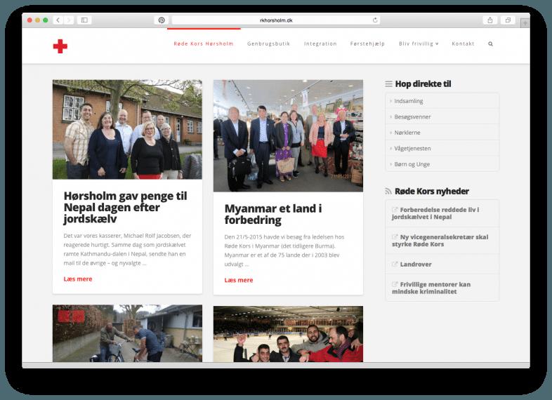 Ny hjemmeside til Røde Kors Hørsholm er skabt i Wordpress fra Dialogdesigneren