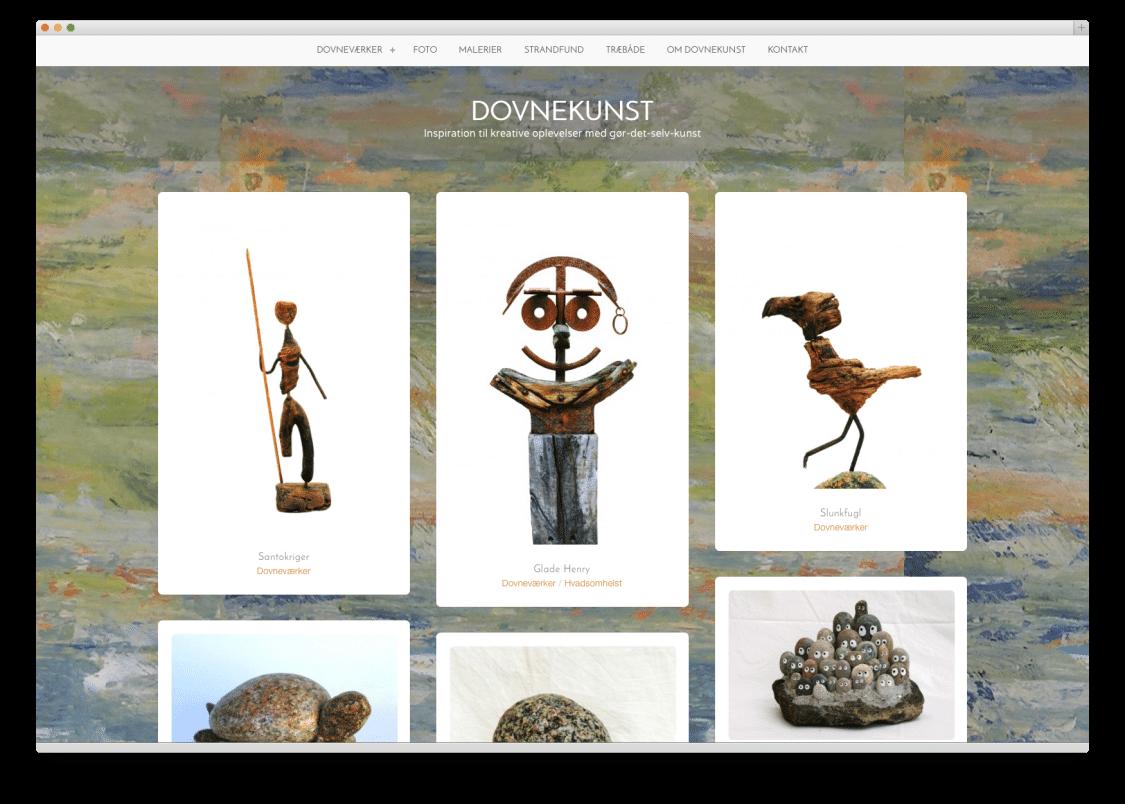 Per Makwarth har selv skabt sin WordPress hjemmeside dovnekunst.dk under supervision af dialogdesigneren