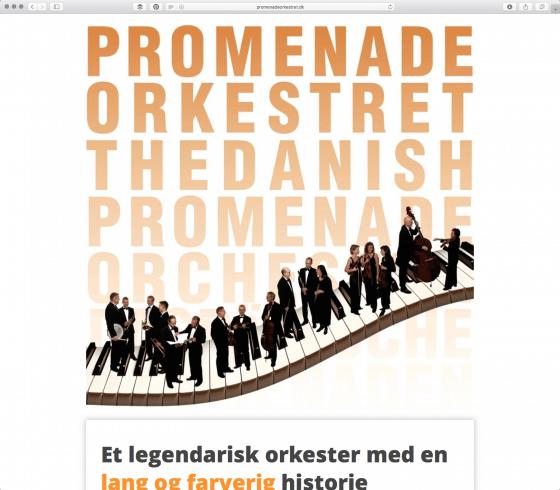 Promenadeorkestret website