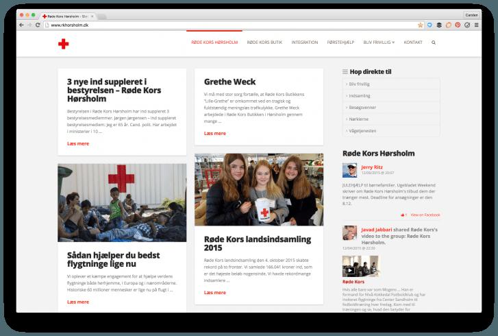 Dialogdesigneren har lavet denne hjemmeside til Røde Kors Hørsholm