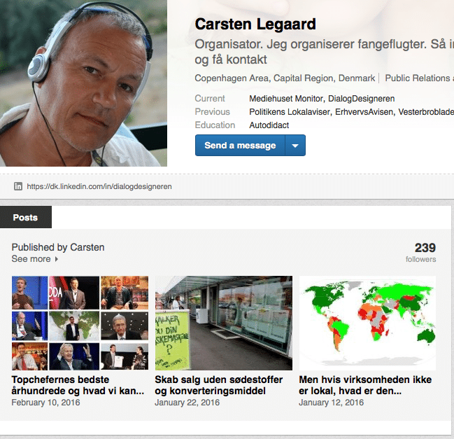LinkedIN profil-optimering i posts