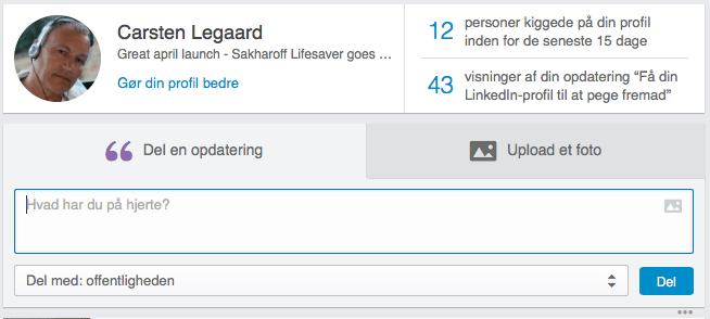 LinkedIN prfil-optimering Updates