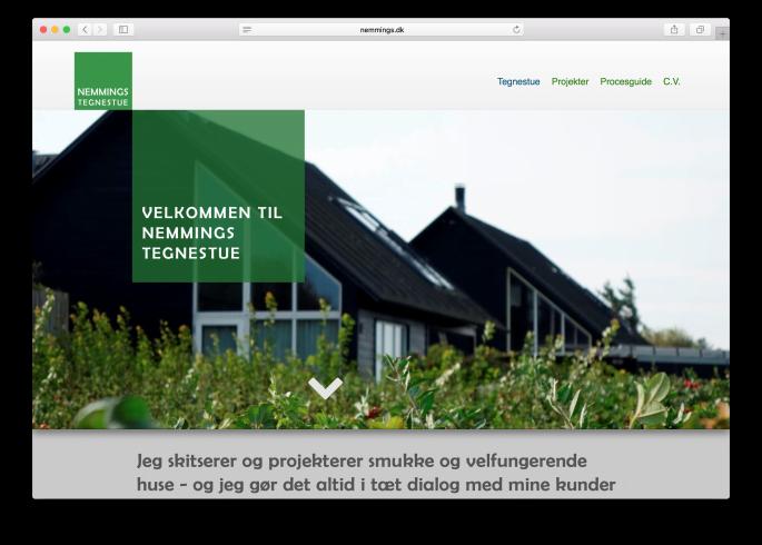 Arkitektens hjemmeside – Nemmings Tegnestue Hillerød