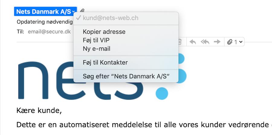 Phishing og spam