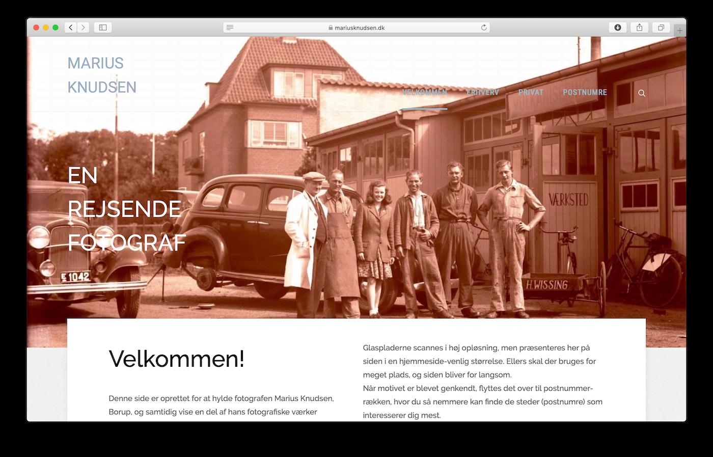 gamle billeder fra fotograf Marius Knudsen