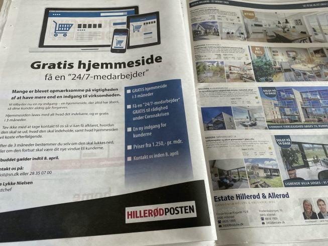 """Hillerød Postens tilbud om """"gratis hjemmeside"""""""