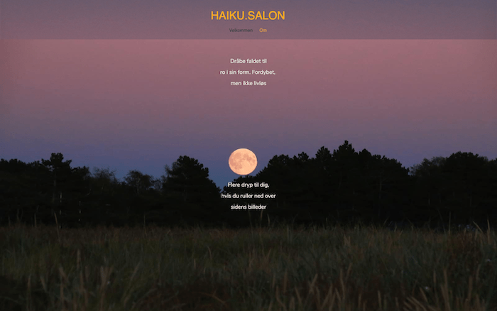 Haiku–dot-salon