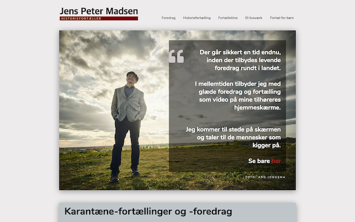 Historiefortæller Jens Peter Madsen