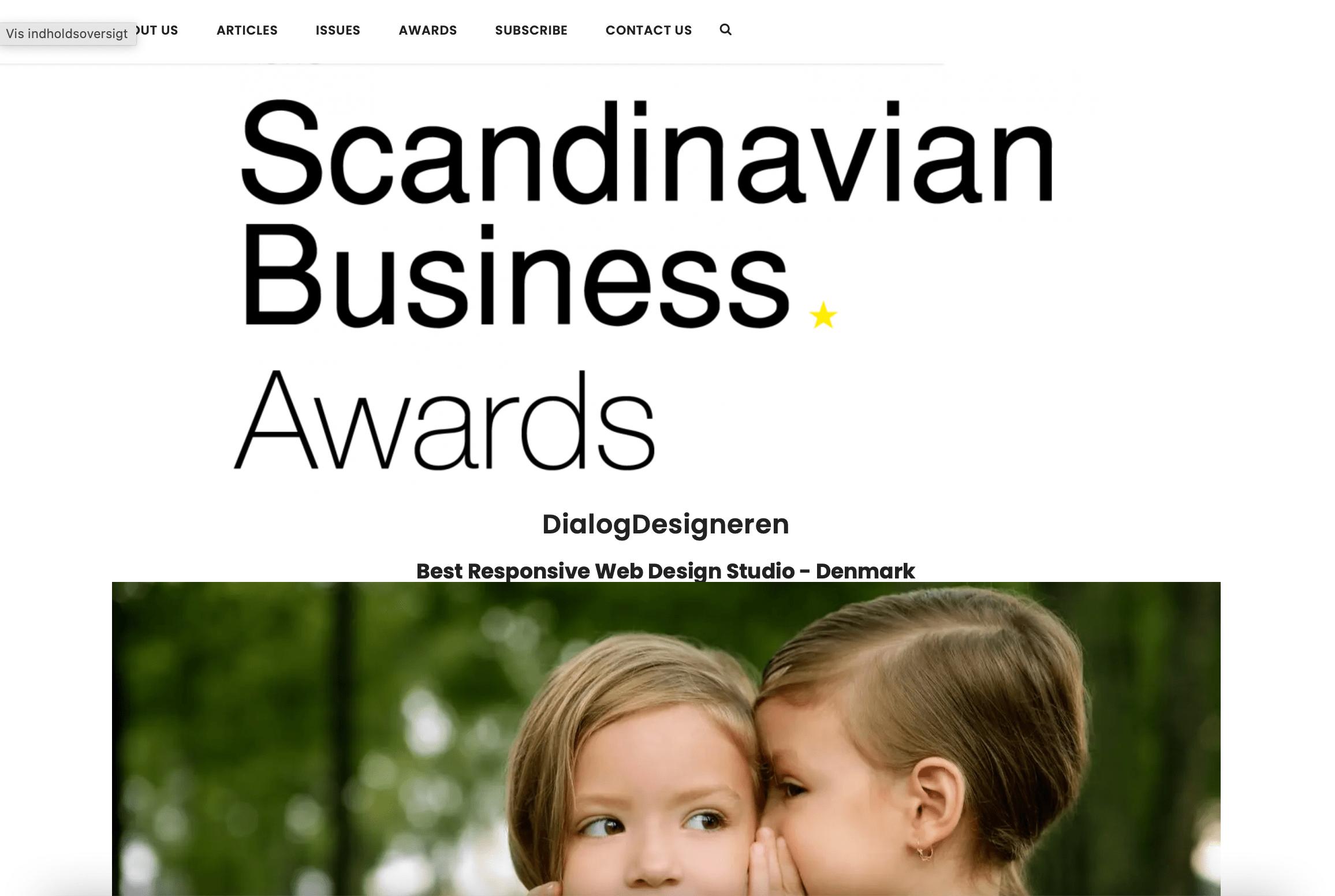 Scandinavian Business Award 2021